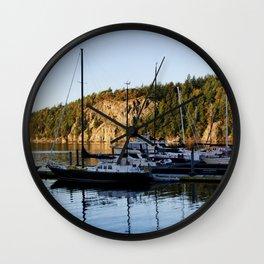 DEER HARBOR MARINA SUNRISE ORCAS ISLAND Wall Clock