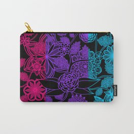 Flight Over Flowers of Fantasy - Androgyne Pride Flag Carry-All Pouch
