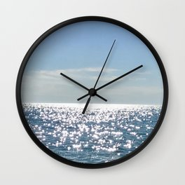 Blue Sky Blue Water Wall Clock