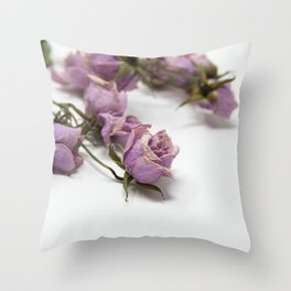 The Remains of the Bouquet Throw Pillow