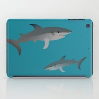 sharks iPad Cases featuring Sharks by Bwiselizzy