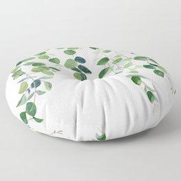 Eucalyptus Watercolor 2  Floor Pillow