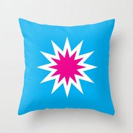 Popart Starburst Throw Pillow