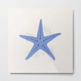 AFE Blue Starfish Metal Print