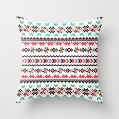 Traditional Embroidery Throw Pillow
