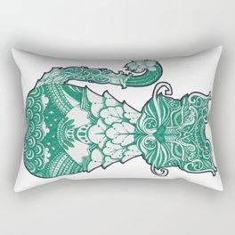 ornament decorative cat illustration Rectangular Pillow