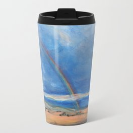 Double Rainbows in Durango, Mexico Travel Mug