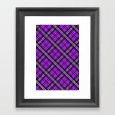 Scottish Plaid (Tartan) - Purple Framed Art Print