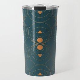 Copper Art Deco on Emerald Travel Mug
