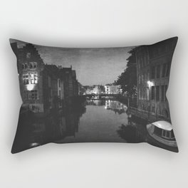 late night in Ghent  Rectangular Pillow