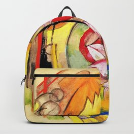 """Franz Marc """"Coloful Flowers (Abstract Forms)"""" Backpack"""