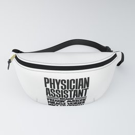 PA Gift Physician Assistant Freakin Awesome Miracle Worker Physician Assistant Fanny Pack