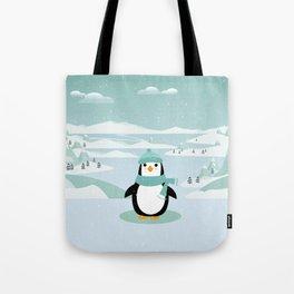 AFE Winter Penguin Tote Bag