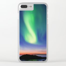 The Northern Lights 01 Clear iPhone Case