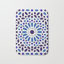 V19 Epic Light Blue Traditional Moroccan Pattern Design . Bath Mat