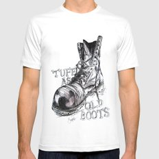 Tuff as old boots Mens Fitted Tee White MEDIUM