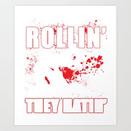 They See Me Rollin' They Hatin' - Martial Arts Design Art Print