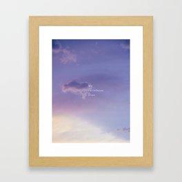 ME SATISFACES DIOS Framed Art Print