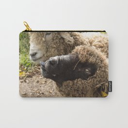 Two Sheep with Silly Faces Carry-All Pouch