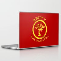 divergent Laptop & iPad Skins featuring Divergent - Amity The Peaceful by Lunil