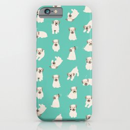 koda pattern (teal) iPhone Case