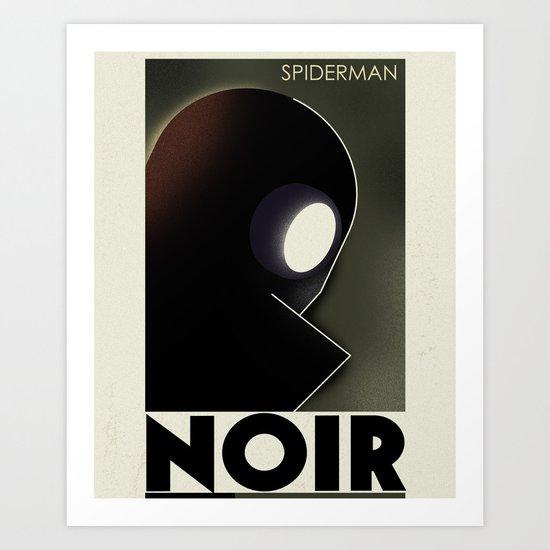 CASSANDRE SPIRIT - Spidey Noir Art Print