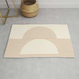 Geometric lines in Shades of Coffee and Latte 4 (Sunrise and Sunset) Rug