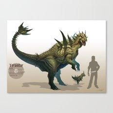Pokemon-Tyranitar Canvas Print