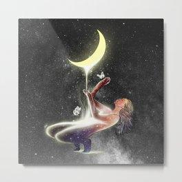 Moon treatment. Metal Print