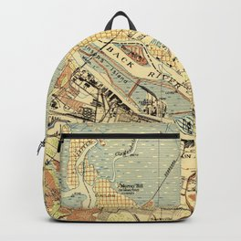Vintage Map of Savannah Georgia (1942) Backpack