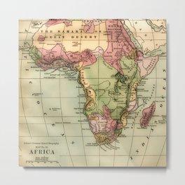 Vintage Africa Map Metal Print