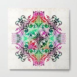 Bright Pattern Art - Color Fusion Design 9 By Sharon Cummings Metal Print