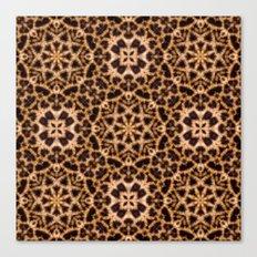Leopard Fur Abstract Kaleidoscope Print Canvas Print