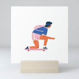 Skateboarder Mini Art Print