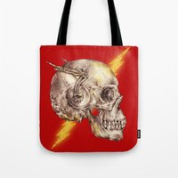 the flash Tote Bags featuring Flash by Alan Maia