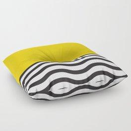 Waves of Yellow Floor Pillow
