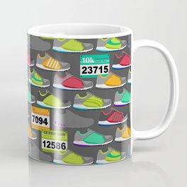 Running Shoes and Race Bibs Coffee Mug