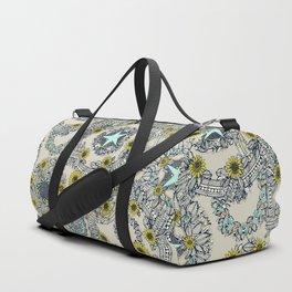 cirque fleur stone aqua star Duffle Bag