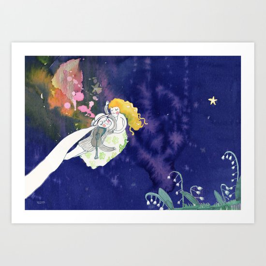 lilies of the valley Art Print
