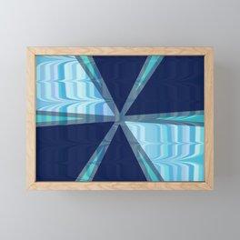 Birds In Flight Pattern 2 In Shades of Blue Framed Mini Art Print