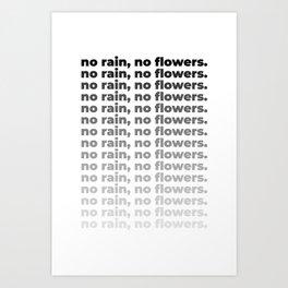 No Rain No Flowers Quote, Life Quotes, Large Printable Photography, Wall Art Print Decor Art Print