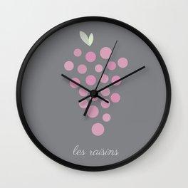 Les Raisins Wall Clock