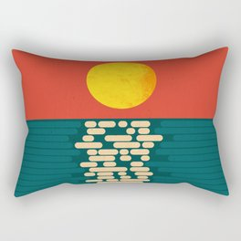 Sun Over The Sea - Afternoon Rectangular Pillow