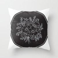 circle Throw Pillows featuring circle by aticnomar