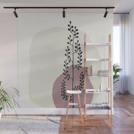 Natural Line Art - Tall Tree In A Vase Wall Mural