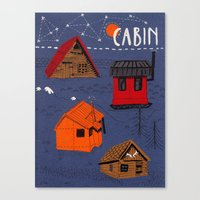 cabin Canvas Prints featuring CABIN by Bex Bourne