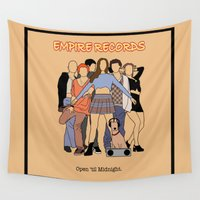 records Wall Tapestries featuring Empire Records Vintage Movie Poster by Finlay McNevin