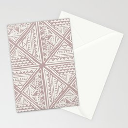 Simply Tribal Tile in Red Earth on Lunar Gray Stationery Cards