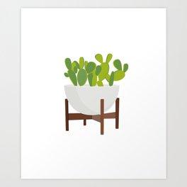 Cactus in Planter Art Print
