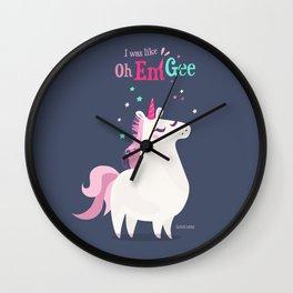 I was like Oh Em Gee - Unicorn Wall Clock